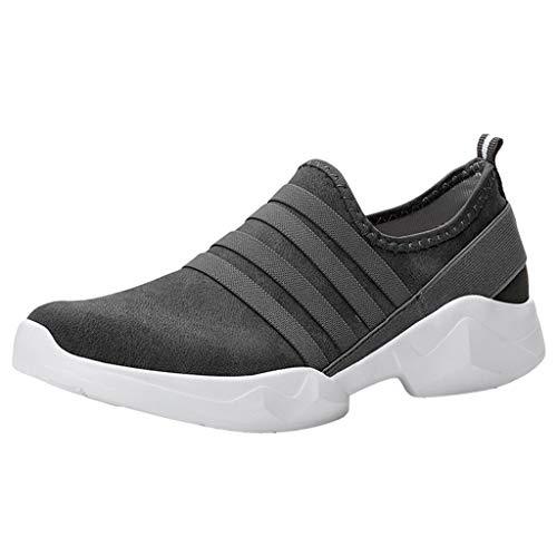 Vovotrade Sportschoenen voor dames en heren, met luchtkussen, gymschoenen, profielzool, sneakers, lichte schoenen, ademend, zachte bodem van suède