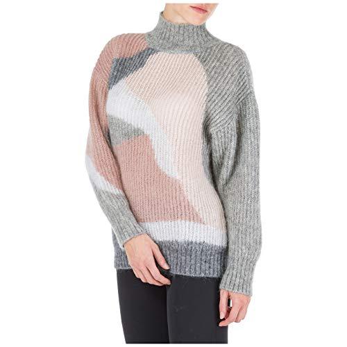 Alberta Ferretti Mujer suéter Cuello Alto Grigio 38 EU