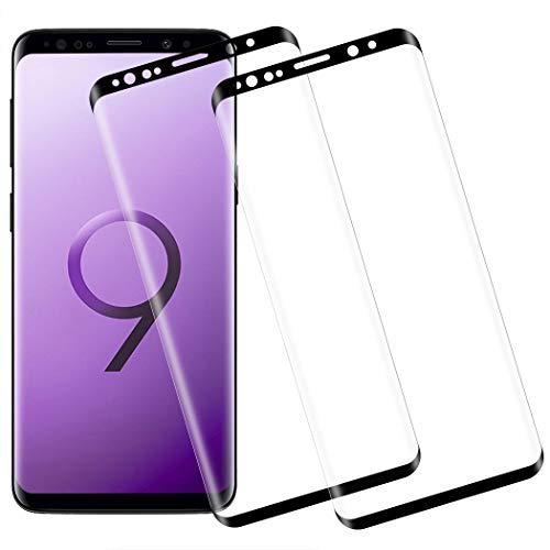 Flysee Verre Trempé pour Samsung S9, [2 Pièces] Protection écran pour Samsung Galaxy S9 [Couverture 3D, Anti Rayures, 9H Dureté, Sans Bulles, Installation Facile, Haute Sensibilité]