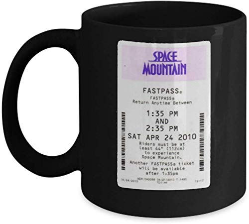 Jackgold Honey Mom and Dad Mug Space Mountain Coffee Mug Cup (Heating, Color Changing Mug) Funny Space Mountain Disneyland Ticket Gift Merchandise Accessories - Gift for Space Mountain