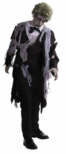 Men's Zombie Formal Costume, Black/Gray, One Size - http://coolthings.us