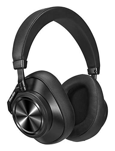 Bluedio T6 (Turbine) Cuffie Bluetooth Cancellazione Attiva del Rumore, Over Ear Wireless Stereo con Microfono Cuffie Auricolari, 25 Ore di Riproduzione per il Cellulare, Regalo di Natale,Nero