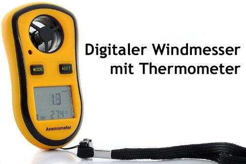 Digitaler Windmesser mit Thermometer - Anemometer - Handwindmesser