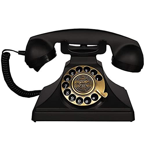 HAOJON Teléfono Antiguo Continental Retro Oficina en casa Línea Fija Dial Giratorio Sala de Estar Dormitorio Línea Fija