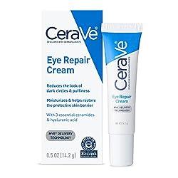 CeraVe Eye Repair Cream | 0.5 oz | Eye Cream for Dark Circles & Puffiness | Fragrance Free