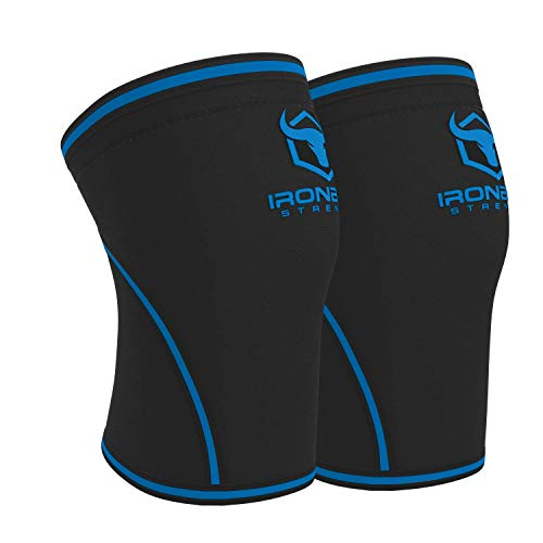 Knee Sleeves 7mm (1 Pair) - High Performance Knee Sleeve Support For Weight Lifting, Cross Training & Powerlifting - Best Knee Wraps & Straps Compression - For Men and Women (Black/Charcoal, Medium)