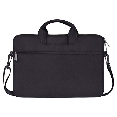 Notebooktasche für 15.6 Zoll MacBook,Notebook Computer, Laptop Schultertasche Sleeve Hülle Umhängetasche mit Handgriff & Schulterriemen aus strapazierfähigem als Messenger Bag,Schwarz