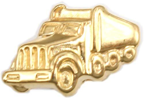 Herrenohrring LKW Truck Gold 585 Stecker Ohrstecher Ohrring für Herren Single