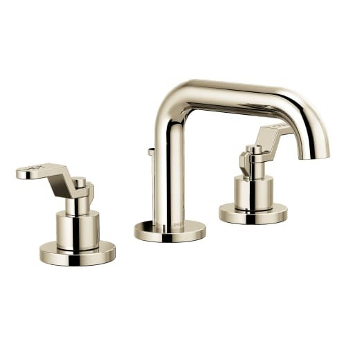 Brizo 65337LF-LHP-ECO Litze 1.2 GPM Widespread Bathroom Faucet with Drain Assemb, Brilliance Polished Nickel