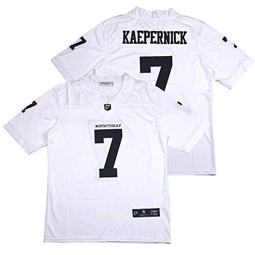 Men's #ImWithKap Colin Kaepernick #7 IM with KAP American Football Jersey Stitched White Size XXL