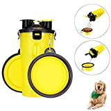 xinmao One Bottle + Outdoor Cups,Two Foods Containers for Pets, Portable Storage Grain Barrels