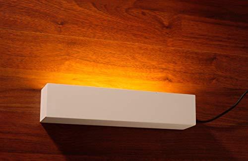 Weiße Gipsleuchte rechteckig, Wandstrahler innen Deckenfluter 2-flammig Wandlampe aus Gips Up Light