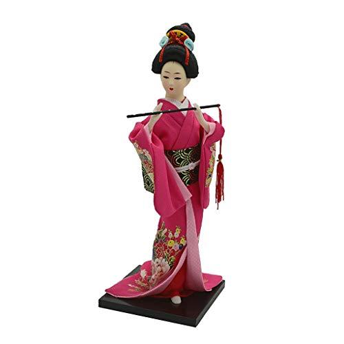 Japanische Samurai Kimono Puppe Geisha Asiatische Kultur Puppe Handwerk Statue 12 '' 30 cm - # 4
