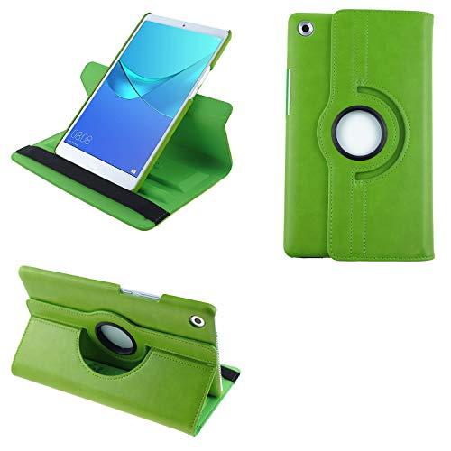 COOVY® 2.0 Funda para Huawei MediaPad M5 8.4 Smart 360º Grados ROTACIÓN Cover Case Protectora Soporte Auto Sueño/Estela | Verde