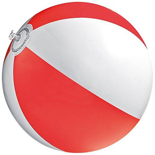 4x Strandball / Wasserball / Farbe: rot-weiß