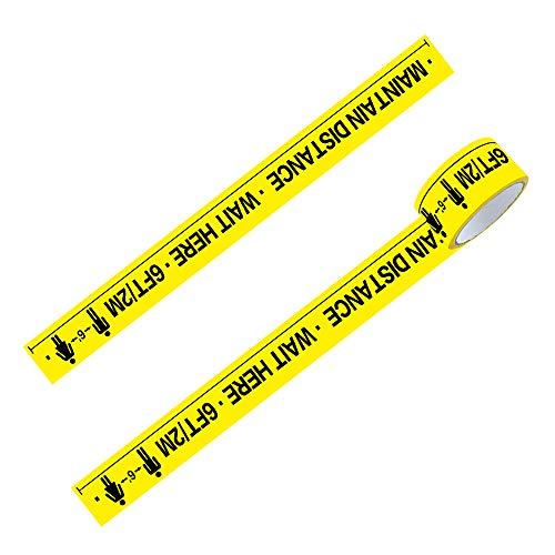 Decdeal Keep Out Sign Barrier Tape Warning Tape 6 Fuß für Ausgewiesene Bereiche