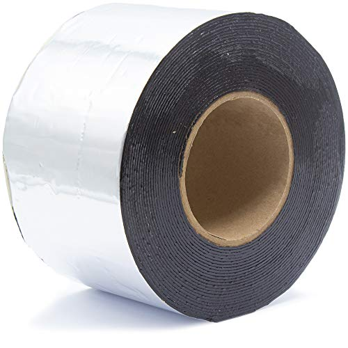 SILISTO Bitumenband Reparaturband 50 mm x 10 Meter, Farbe Alu
