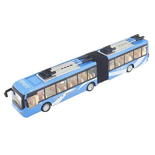 1:48 Maßstab Metalldruckguss Spielzeug Fahrzeuge Verkehr Modellauto Spielzeug realistische Gelenkbus mit Lichtern Und Musik(Weiß)