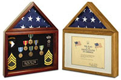 Large Flag Case - Fire Dep Flag Case, first responder flag display case, Flag and certificate case, Flag and Doc Display cases