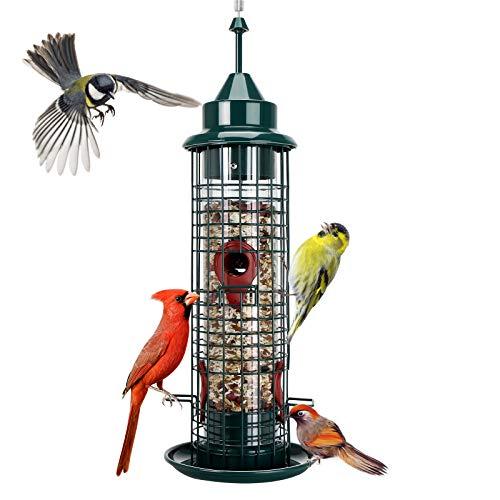 Hanging Wild Bird Feeder Tube Bird Feeders for Garden Yard...