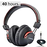 Avantree Audition 40 hr Bluetooth Over Ear Headphones with Microphone for PC Computer Phone Cal…