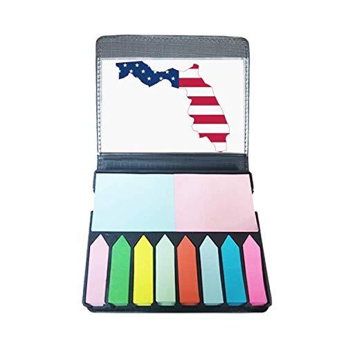 Florida USA kaart sterren strepen vlag vorm zelfklevende notitie kleur pagina markeerdoos