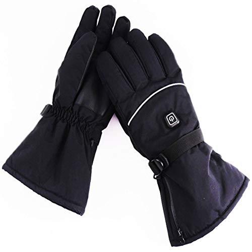 Guantes calefactados, recargables, con 3 niveles de control de temperatura, guantes impermeables para deportes al aire libre, esquí, ciclismo, equitación, caza, pesca, invierno, el mejor regalo