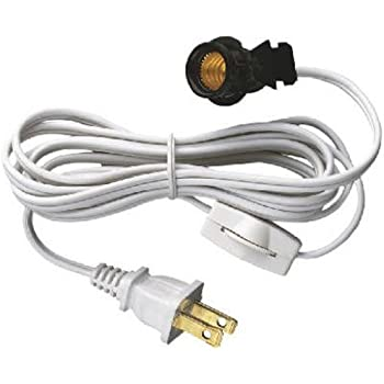 [ANLQ_8698]  Westinghouse 70108 6-Foot Cord Set with Snap-In Pigtail Candelabra-Base  Socket and Cord Switch, White - Light Sockets - Amazon.com | Candelabra Wiring Harness |  | Amazon.com