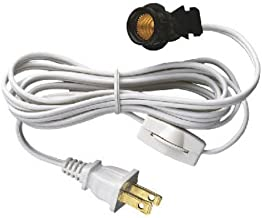 Westinghouse 70108 6-Foot Cord Set with Snap-In Pigtail Candelabra-Base Socket and Cord Switch, White