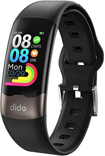 SANAG Smart Watch, E-CG Fitness Activity Tracker mit Herzfrequenzmesser SpO2 Sleep GPS Step Fitness Armband, IP67 Wasserdichtes Sportband für Damen Herren Anruf SMS Beachten für iOS Android (Y2)