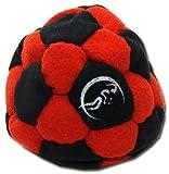 Pro Hacky Sack 32 Paneelen (Schwarz/Rot) Profi Freestyle Footbag! Hacky Sack für Anfänger und...