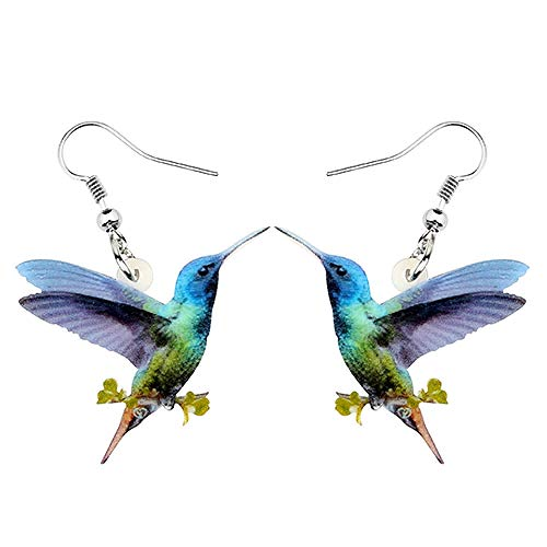 XAOQW Pendientes de Aves acrílicas, Joyas únicas para Hombres y Mujeres, Amantes de Las Mascotas, Regalos Multicolor_