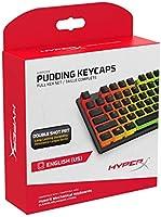 HyperX Pudding Keycaps - Volledige Key Set - PBT - Nederlands (VS) Layout Zwart