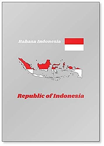 Kühlschrankmagnet, Motiv Landkarte & Flagge von Indonesien