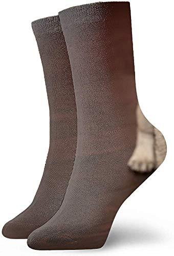 Nifdhkw Bozal 3D abstracto artístico impresión artística de gato rojo Vector Unisex Sport Elite calcetines