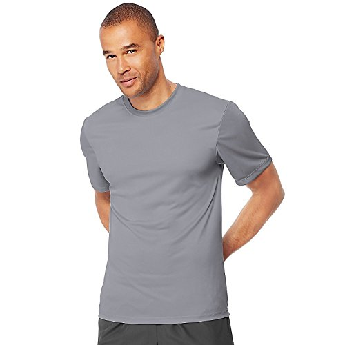 Hanes Cool DRI TAGLESS Men's T-Shirt_Graphite_L