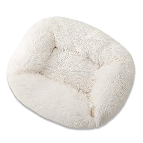 L-ELEGANT Alfombra para perro cálida cama de perrera, cojín de felpa, donut acogedor, alfombrilla para mascotas pequeñas y medianas que duermen en interiores, lavable a máquina, G Xs