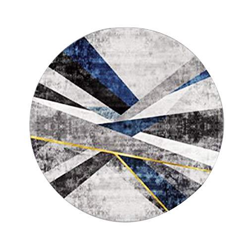 W/C/X Tappeti per Area Rotonda in Stile Nordico Cuciture Grigio Blu Bambini Che Giocano Gioco Tappetino Soggiorno Camera da Letto Sedia da Tavolo Tappeto Antiscivolo(Color:WCX-002,Size:80x80cm)