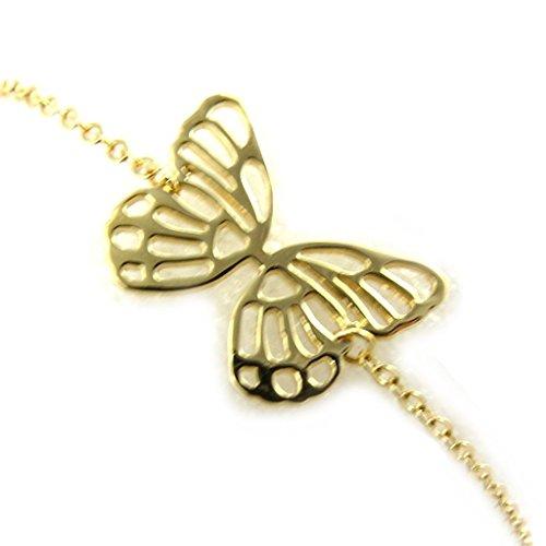 Gold plated bracelet 'Papillon Lumière'golden.