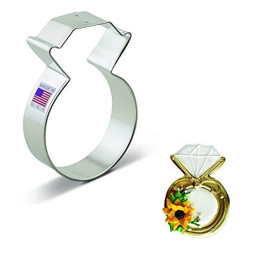 Ann Clark Cookie Cutters Diamond Ring Cookie Cutter, 3.75'
