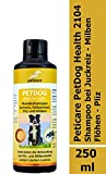 Peticare Hunde-Shampoo gegen Juckreiz, Milben, Pilz, Flöhe - Milbenshampoo entfernt auch Larven,...
