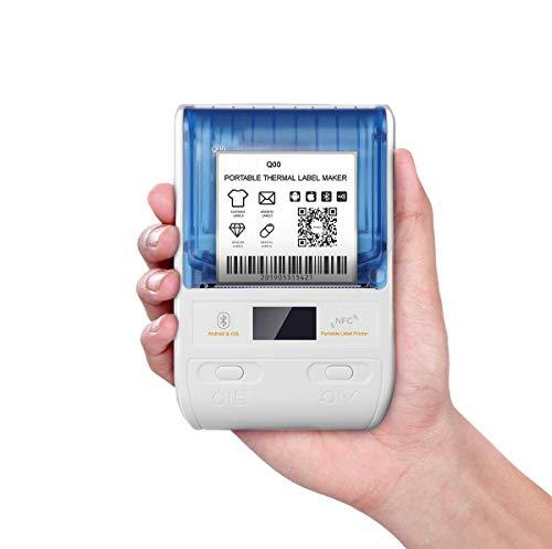 Printers Draagbare Bluetooth Thermische Label, Toepassen op Labeling, Kleding, Sieraden, Winkel, Mailing, Barcode en meer, Compatibel voor Android & iOS Systeem