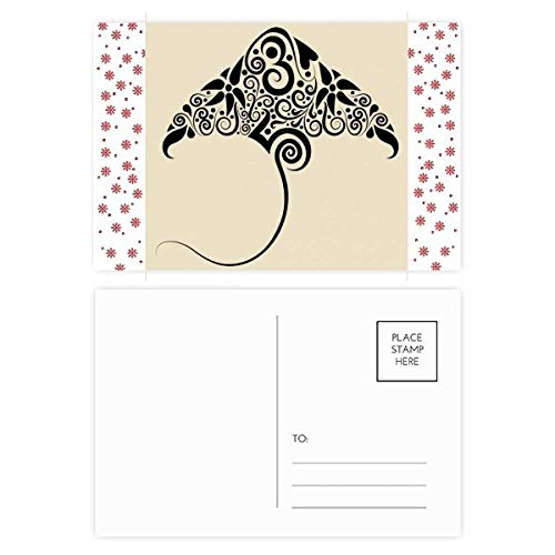 Schaats Zwart en Wit Patroon Dier Kerstmis Bloem Postkaart Thanks Card Mailing 20 stks