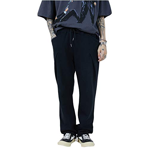 Pantalones de chándal para Mujer Pantalones Deportivos para Mujer Pantalones de chándal Largos Ocasionales Pantalones de Ocio Sueltos para Mujer Largos (Color : Gray, Size : XXL)