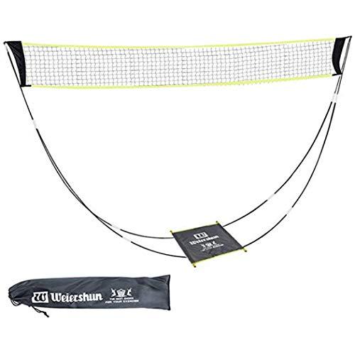 XUDREZ Tragbares Badmintonnetz-Set mit Ständer, 3 m faltbares Tennis-Volleyballnetz für drinnen und draußen, Garten, Strand – kein Werkzeug oder Heringe erforderlich