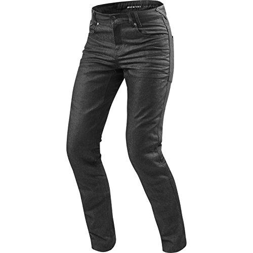 REV\'IT! Motorrad Jeans Motorradhose Motorradjeans Lombard 2 RF Jeanshose dunkelgrau 34/34, Herren, Chopper/Cruiser, Ganzjährig, Textil