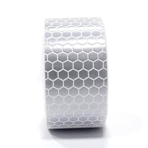 muchkey® Klebeband reflektierend weiß hohe Intensität 25mm x 2,5m