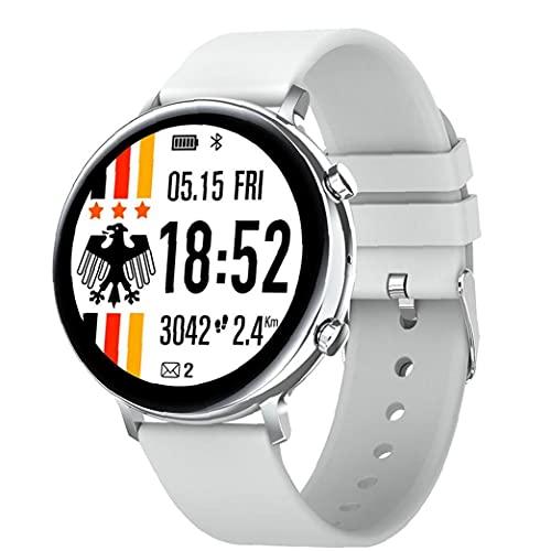 Llamadas inteligente aptitud del reloj del perseguidor impermeable de la venda inteligente GW33 Bluetooth pulsera Deportes SmartWatch para la electrónica mujeres de los hombres blancos