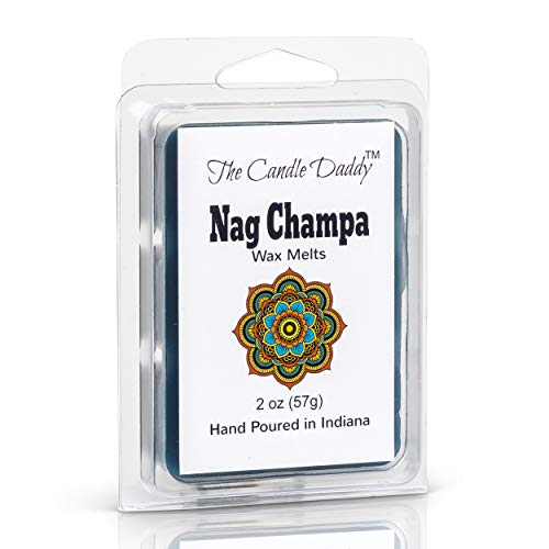 The Candle Daddy Nag Champa Incense Scented Melt- Maximum Scent Wax Cubes/Melts- 1 Pack -2 Ounces- 6 Cubes