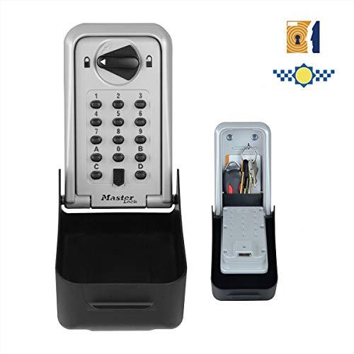 Master Lock 5422EURD sleutelkluis met drukknop en beugel beugelhouder Gecertificeerde veiligheid + drukknop + wandhouder. X-Large grijs en zwart.